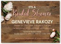 Flowering Perfection 5x7 Bridal Shower Invitations