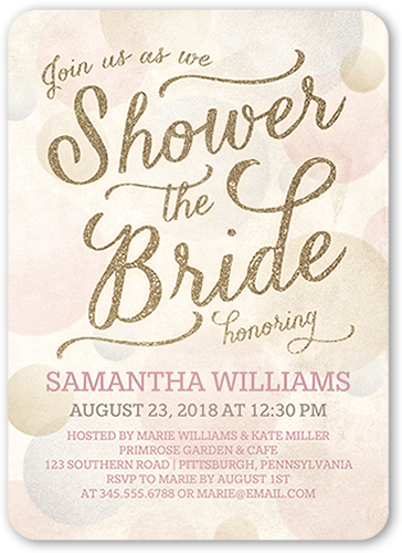 Shower The Bride Bridal Shower Invitation, Rounded Corners