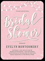 string the lights bridal shower invitation 5x7 flat