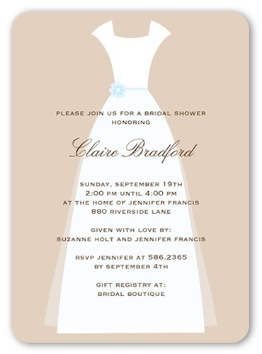 Wedding Couture Bridal Shower Invitation