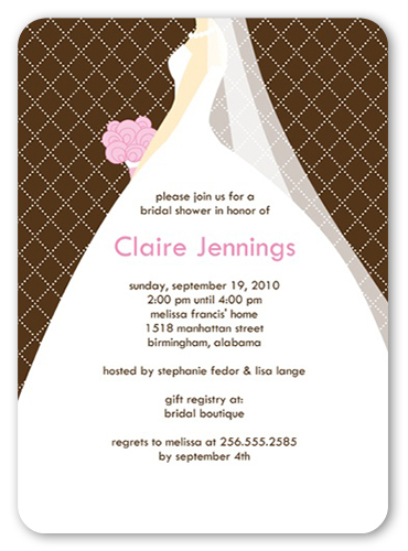 Wedding March Chocolate Bridal Shower Invitation