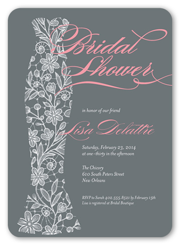 Floral Gown Bridal Shower Invitation