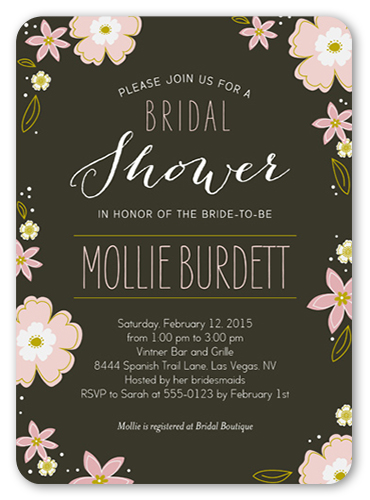 Ever So Sweet Bridal Shower Invitation, Rounded Corners