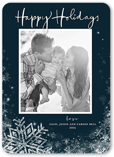 Fanciful Frozen Frame Holiday Card