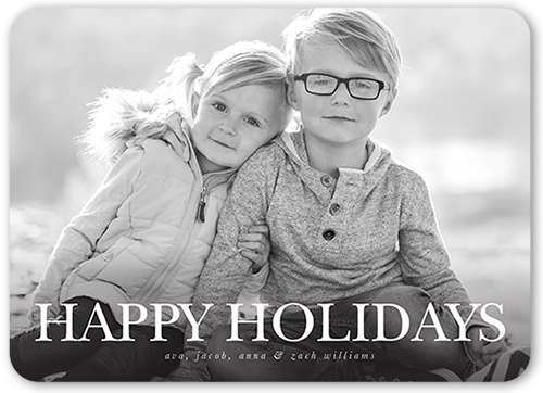 Simple Happy Sentiment Holiday Card