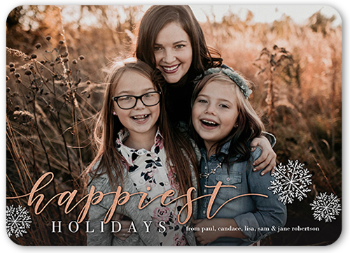 Happy Simple Flakes Holiday Card