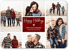 patchwork piece holiday card