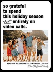 grateful holiday holiday card
