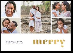 bright shining merry holiday card