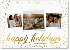 gleaming star frame holiday card
