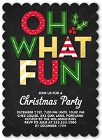 christmas invitations  christmas party invitations  shutterfly, invitation samples