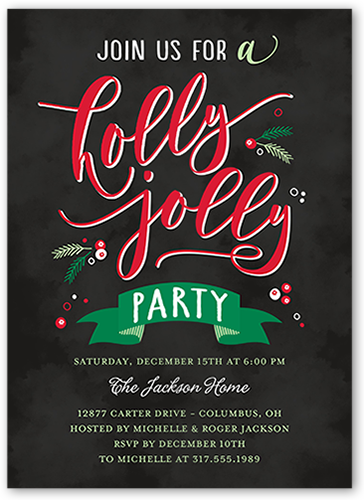 A Holly Jolly Holiday Invitation