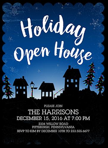 Festive Lights Holiday Invitation