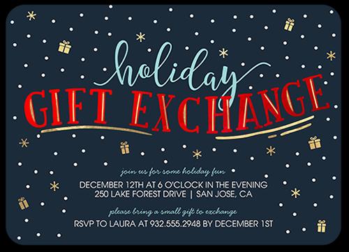 Fabulous Type Holiday Invitation