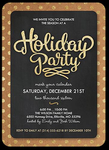 Bordered Confetti Holiday Invitation