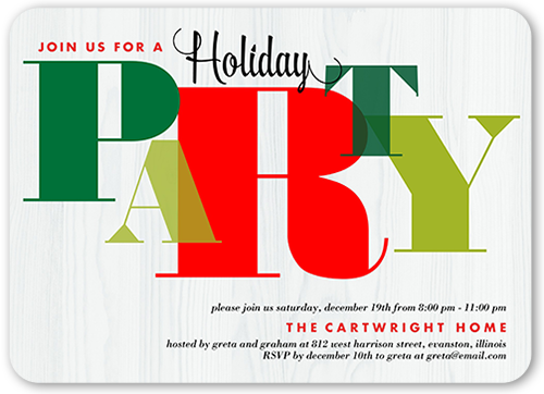 Seasonal Gathering Holiday Invitation