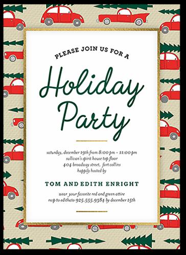 Festive Automobile Holiday Invitation