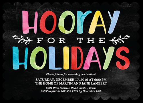Hooray Hues Holiday Invitation