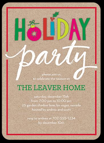 Colorful Festivities Holiday Invitation