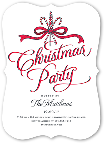 Elegant Festivities Holiday Invitation, Bracket Corners
