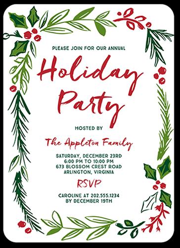 Celebration Foliage Holiday Invitation