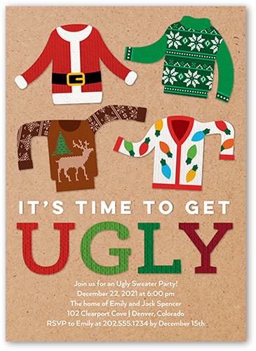 Ugly Christmas Sweater Party Invite.Ugly Christmas Sweater Party Ideas Shutterfly
