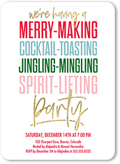 merry making holiday invitation