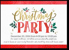 quaint observance holiday invitation