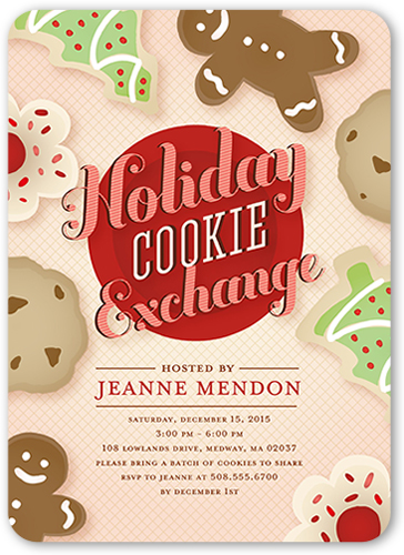 Cookie Exchange Holiday Invitation