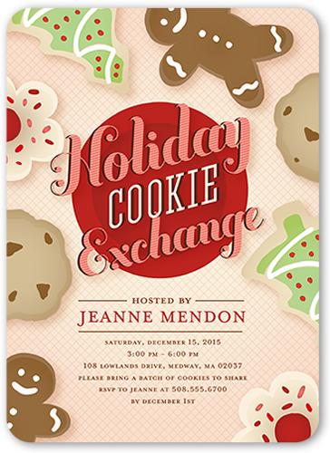Cookie Exchange Holiday Invitation
