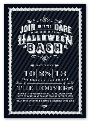 Ghoulish Gala Halloween Invitation