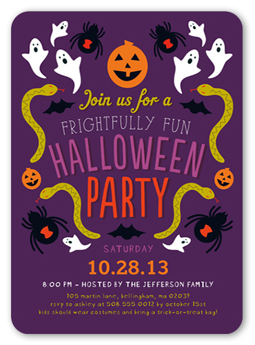 Frightfully Fun Halloween Invitation
