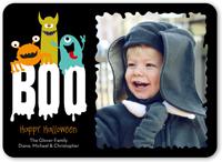 boo monsters halloween card 5x7 flat
