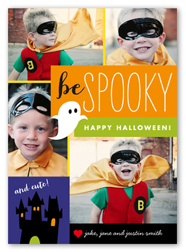 Spooky And Cute Halloween Card
