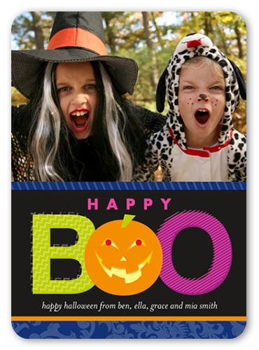 Boo Pumpkin Halloween Card