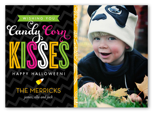 Candy Corn Kisses Halloween Card