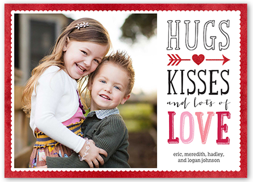 Heartfelt Message Valentine's Card, Square Corners