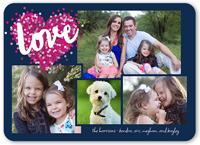 confetti heart valentines card 5x7 flat