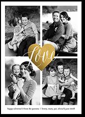 i heart you valentines card 5x7 flat