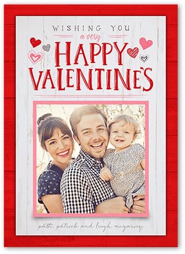 Wishing You Love Valentine's Card, Square Corners