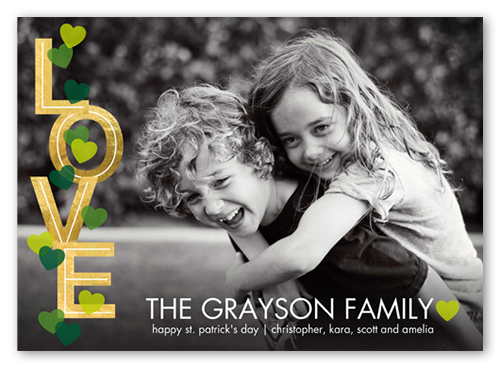 Golden Love St. Patrick's Day Card, Square