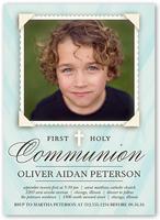 holy communion boy communion invitation 5x7 flat