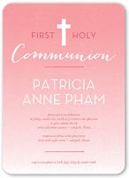 clean communion girl communion invitation 5x7 flat