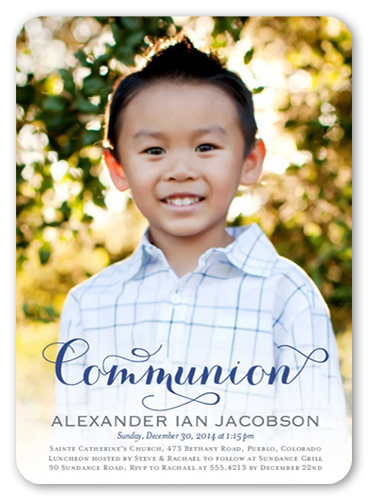 Delightful Day Boy Communion Invitation