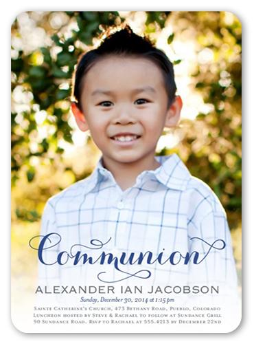 Delightful Day Boy Communion Invitation