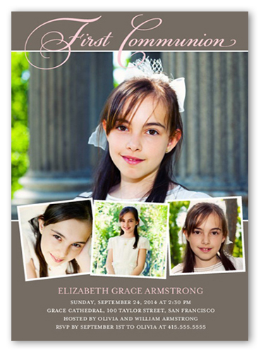 Modern Tradition Girl Communion Invitation by Yours Truly