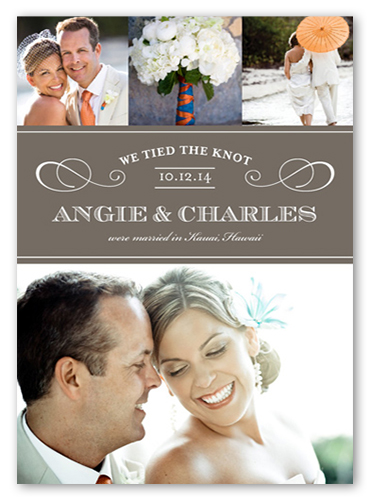 our wedding day 5x7 wedding announcement cards shutterfly