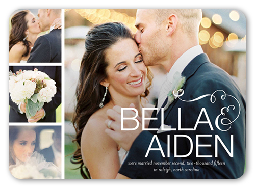Elegant Expression Wedding Announcement, Rounded Corners