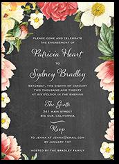 floral dreams engagement party invitation