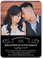 love forever engagement party invitation 5x7 flat